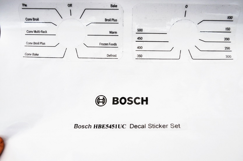 Bosch HBE5451UC decal sticker set for worn fronts.