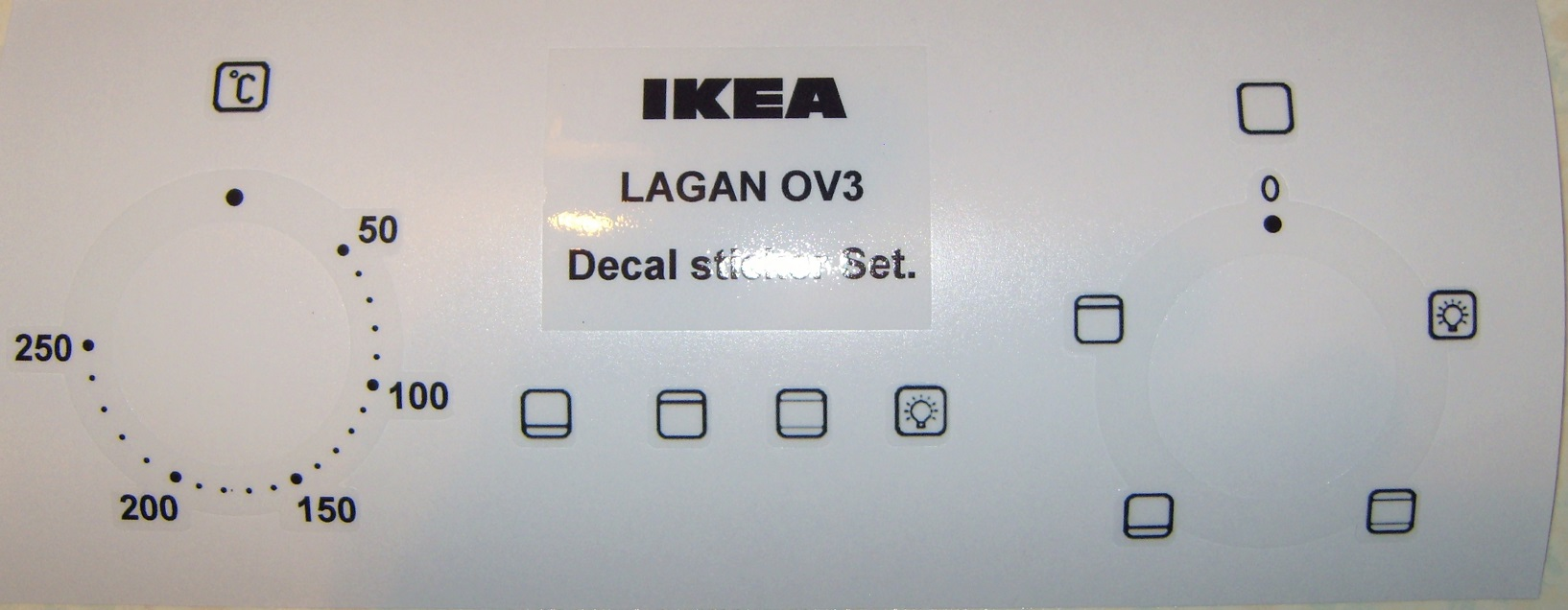 LAGAN OV3 Oven decal sticker set, may fit others.