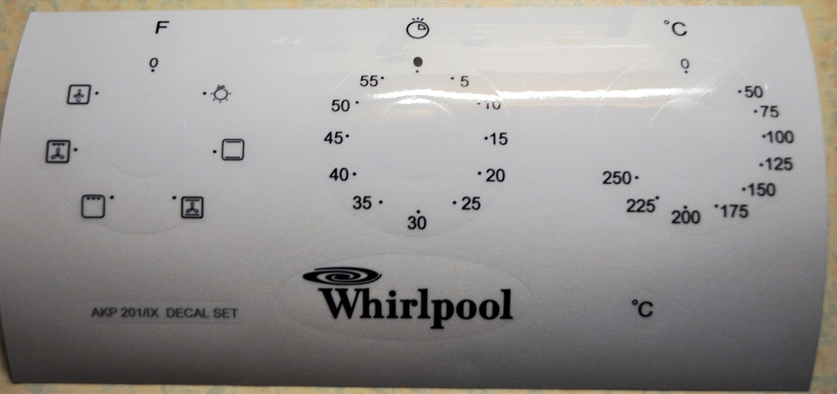 Whirpool AKP 201 IX oven, cooker panel, decal, stickers, may sui