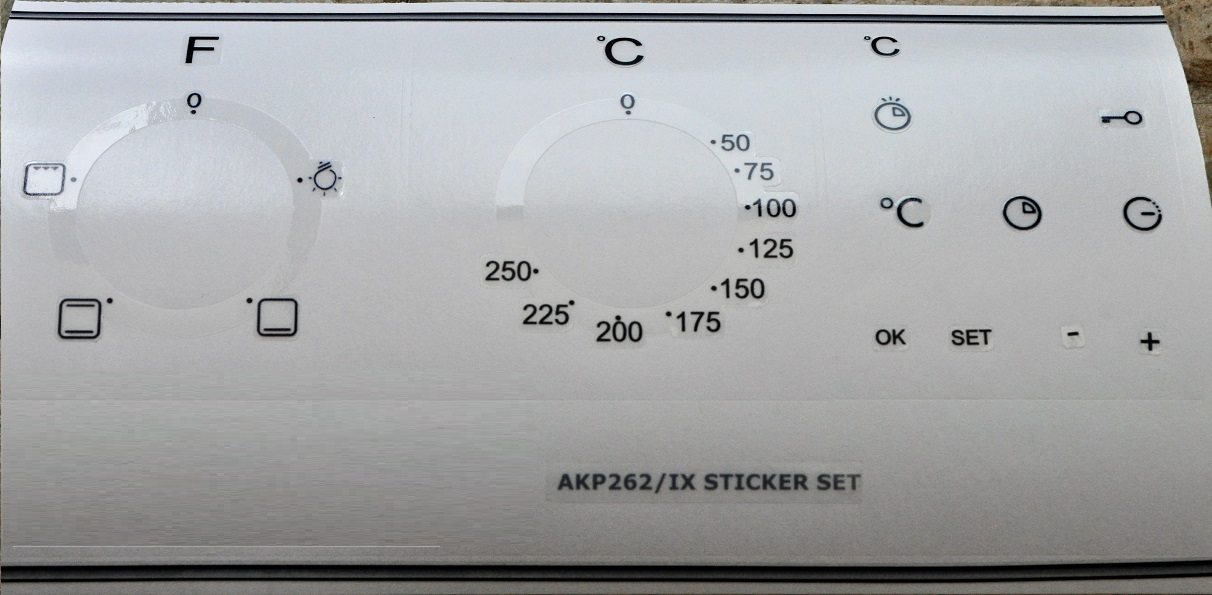 Whirpool AKP 262/IX oven, cooker panel, decal, stickers, may sui