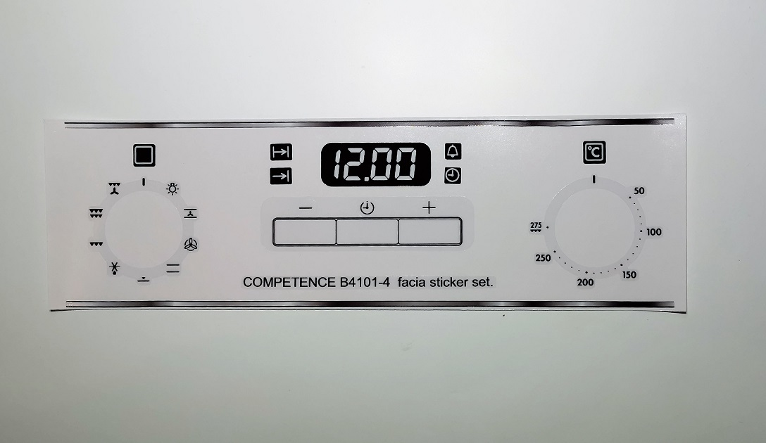 AEG COMPETENCE B4101-4 Sticker set for worn fronts.