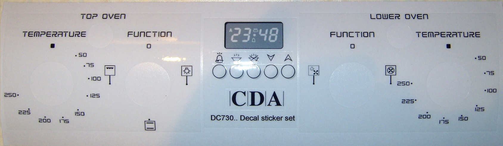 CDA DC730.. decal sticker set for worn fronts, may suit others.