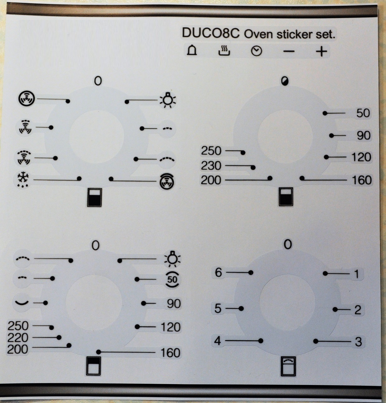 Smeg Duco8c Compatible Panel Fascia Sticker Set Duco8c 14 99 Oven Stickers Decal Sticker Sets