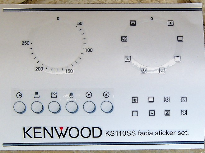 Kenwood KS110SS front panel sticker set, may fit others.