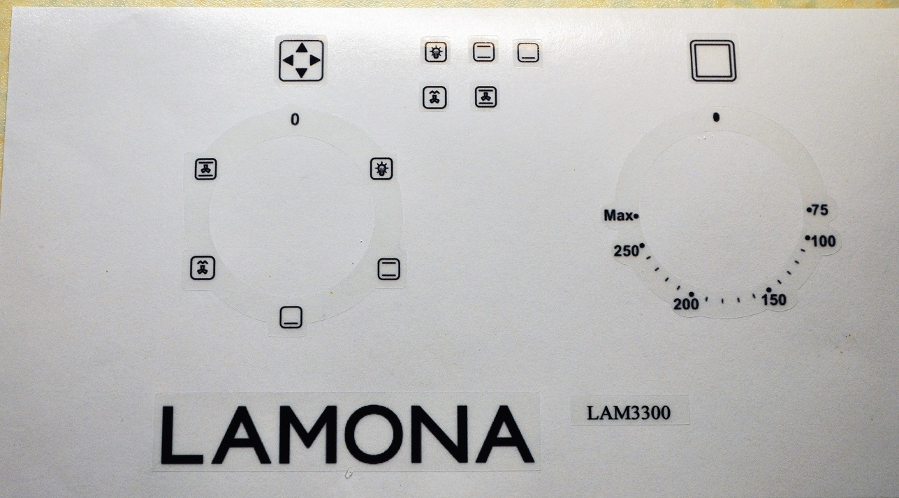 Lamona LAM3300 fan oven oven decal stickers etc.