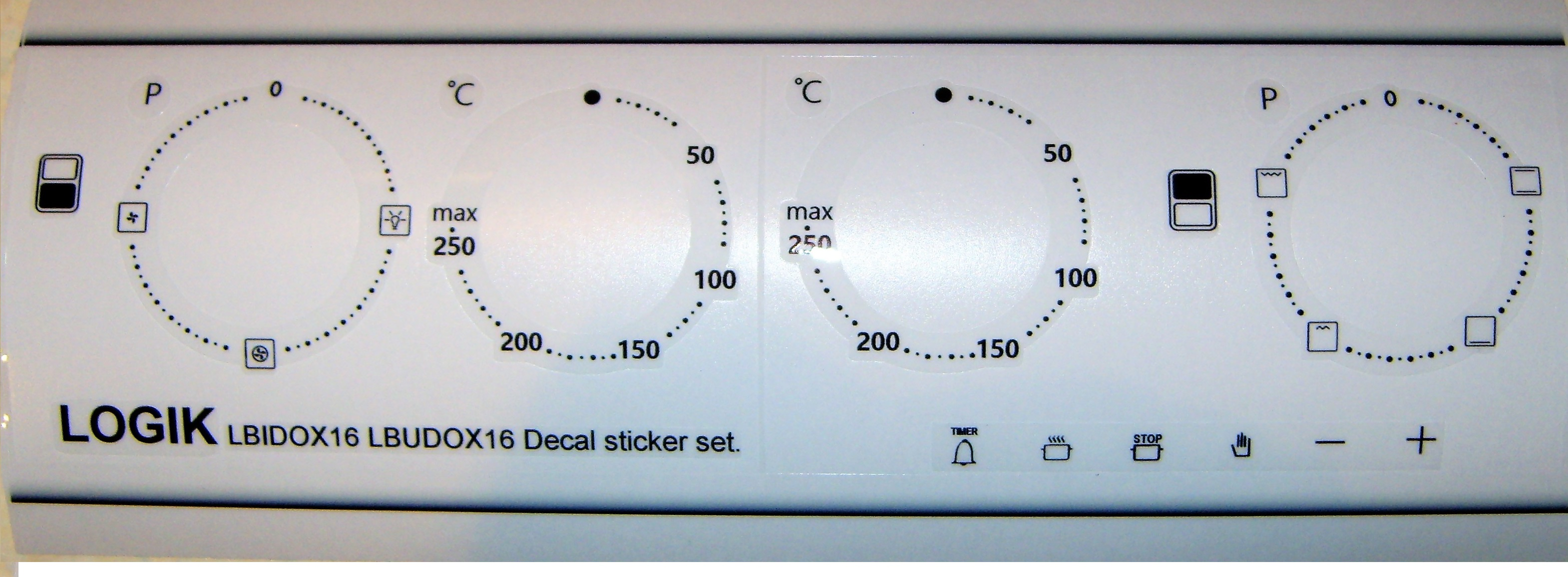 Logik LBIDOX16, LBUDOX16 Decal sticker set, may fit others.