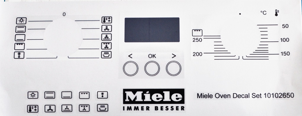 Miele integrated oven decal set H2361BCLST may suit others.