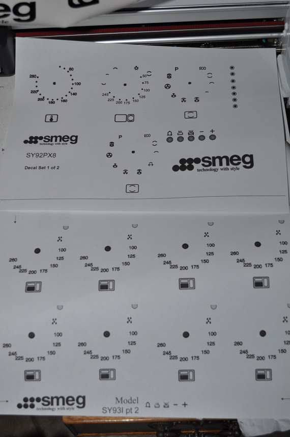 Smeg range oven facia. decals, SY92PX8 may suit others. check